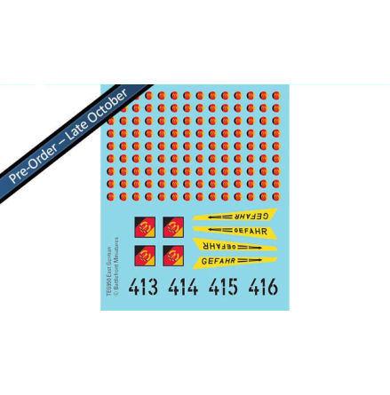 East German Decals (x4 Sheets)