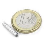 Disc Magnet diameter 3 mm, höjd 2 mm (20st) Nickelpläterad 300g styrka