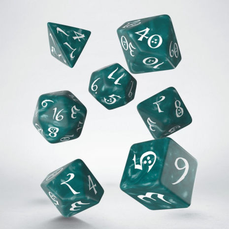 Classic RPG Stormy & white Dice Set (7)