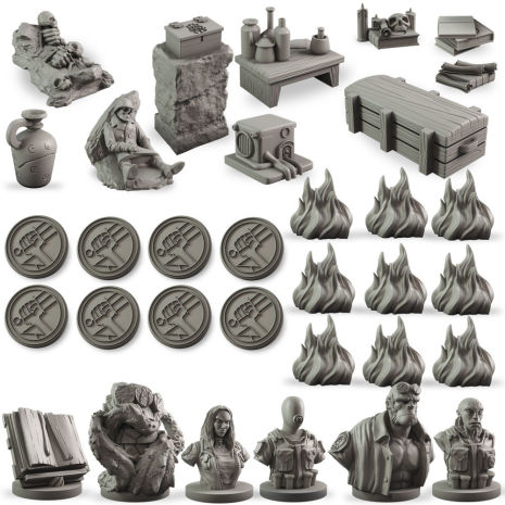 Hellboy: The Board Game – Counter Upgrade Set (Release April 2019)