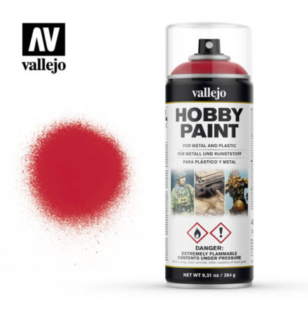 Vallejo Hobby Paint Spray: Bloody Red (400 ml)