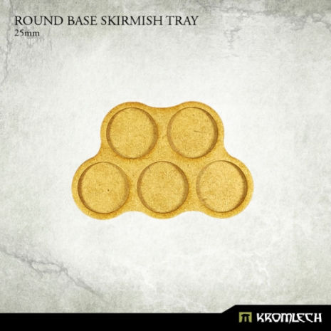 Round Base Skirmish Tray 25mm (6)