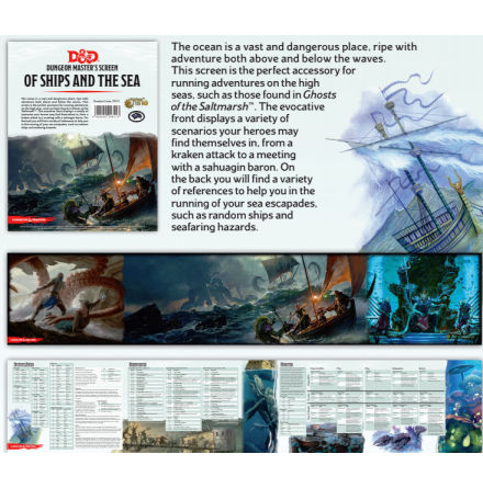 Dungeon Masters Screen of Ships and the Sea