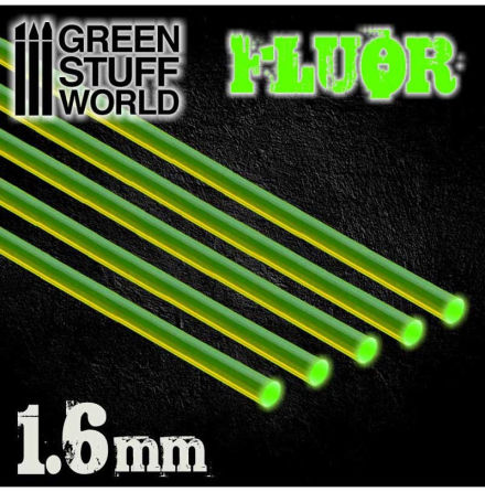 Acrylic Rods - Round 1.6 mm Fluor GREEN