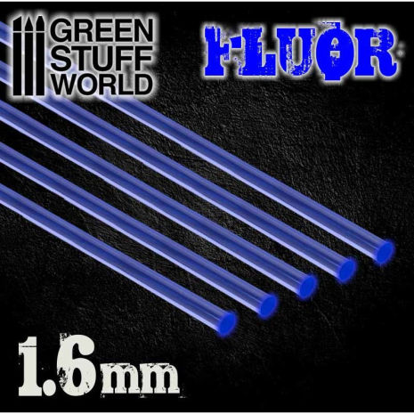 Acrylic Rods - Round 1.6 mm Fluor BLUE