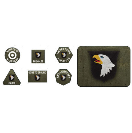 101st Airborne Division Tokens (x20) & Objectives (x2)
