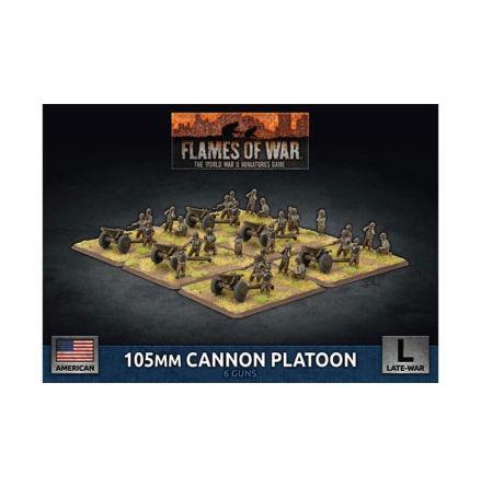105mm Cannon Platoon (x6 Plastic)