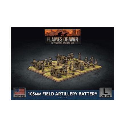 105mm Field Artillery Battery (x4 Plastic)
