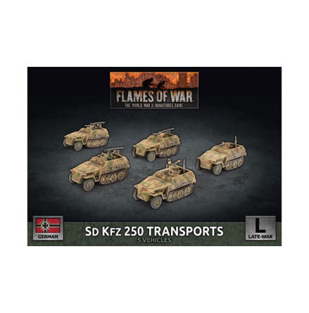 Sd Kfz 250 Reconnaissance (MG and 3.7cm) Platoon (x5 Plastic)