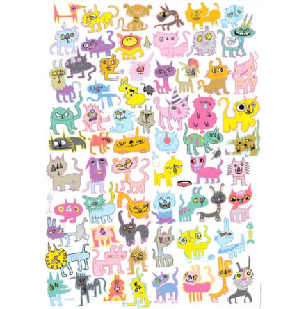 Doodlecats, Burgerman 1000 pieces 48x68 cm