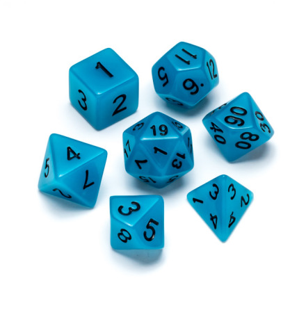 Flourescent Series: Blue - Numbers: Black