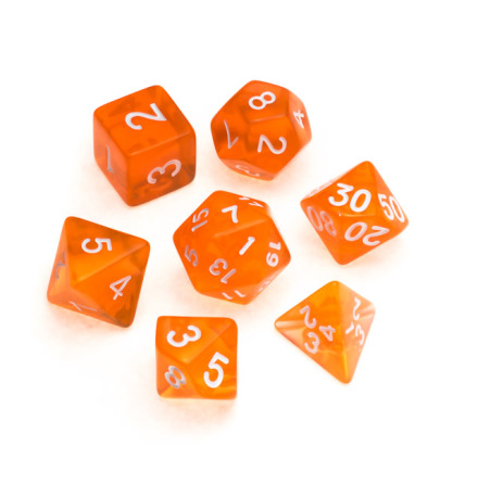 Transparent Series: Orange - Numbers: White