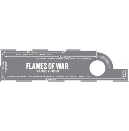 Range Finder / Mätsticka Flames of War 4.0