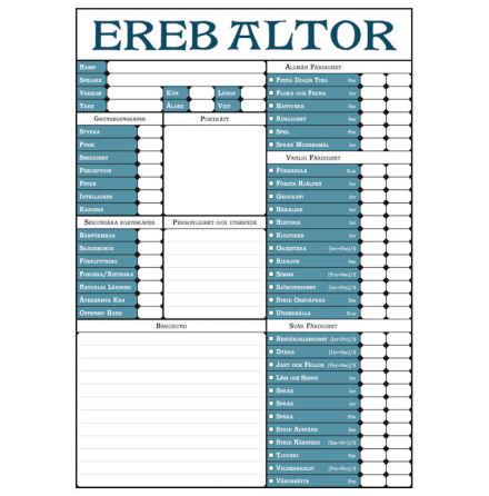 Drakar & Demoner - Ereb Altor Rollformulär (SE)