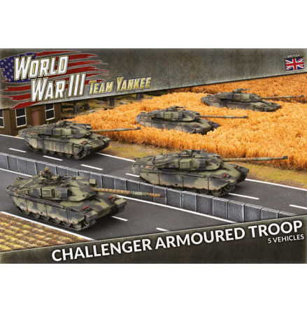 Challenger Armoured Troop (x5 Plastic)