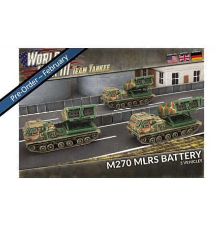 M270 MLRS Rocket Launcher Battery (x3 Plastic)