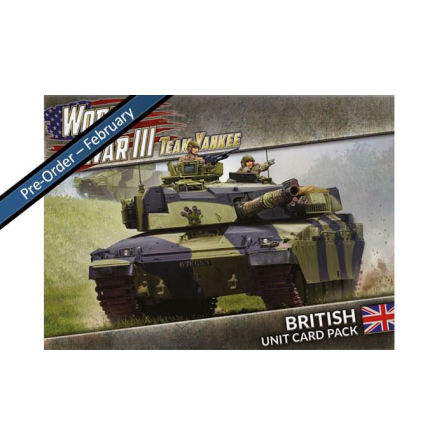 WWIII: British Unit Card Pack (39 cards) (begränsad utgåva)