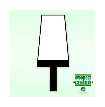 PLASTICARD T-Profil 6.5x6.5x2.2mm 35cm lång (2)