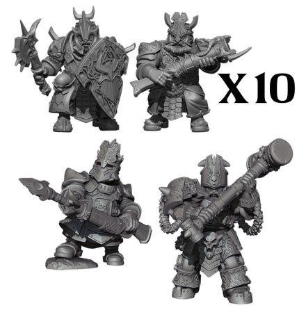 VANGUARD: Abyssal Dwarf Warband Set