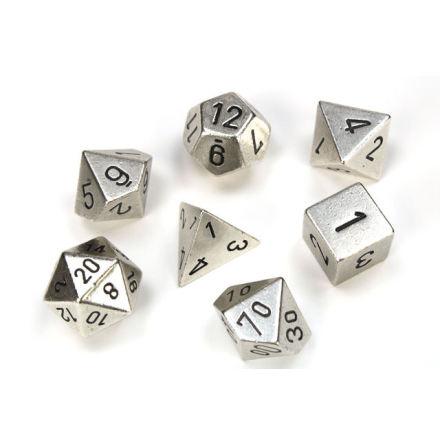 Metal Silver 7 Die Polyhedral Set
