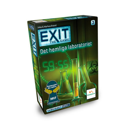 EXIT: Det Hemliga Laboratoriet (SE) (Spiel des Jahres Nominerad 2017)
