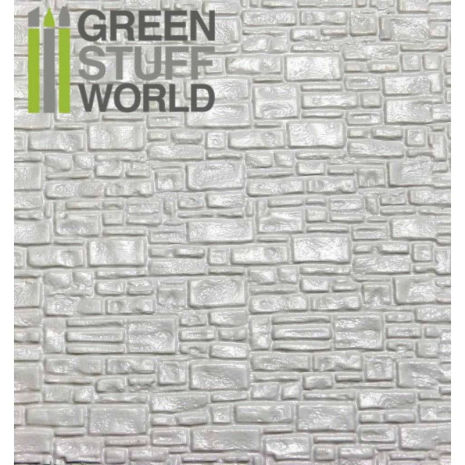 ABS Plasticard - SMOOTH ROCK WALL Textured Sheet - A4