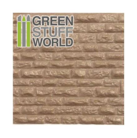 ABS Plasticard - ROUGH ROCK WALL Textured Sheet - A4