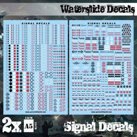 Waterslide Decals - Robot Signals