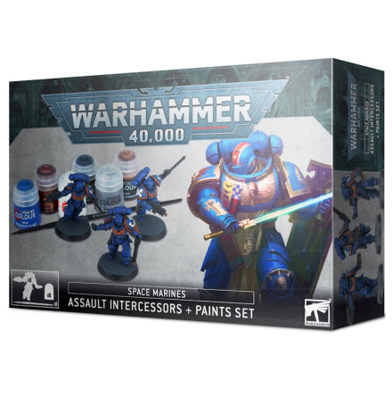 SPACE MARINES ASSAULT INTERCESSORS + PAINT SET