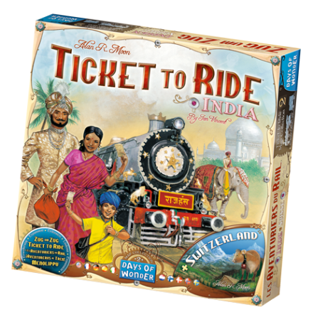 Ticket to Ride: Map Collection 2 (India & Switzerland)