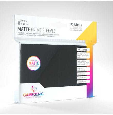 Matte Prime Sleeves Black (66x91 mm) 100 (Code Gray)