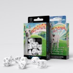Bright Llama Dice Set (White & black)