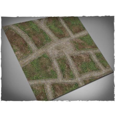 DeepCut Game mat – Cobblestone Streets (4x4 foot)