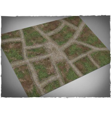 DeepCut Game mat – Cobblestone Streets (6x4 foot)