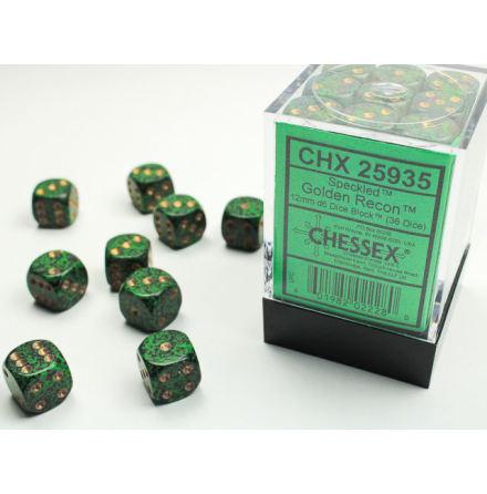 Speckled 12mm d6 Golden Recon Dice Block (36 dice)