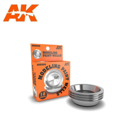 AK 8206 MODELING PAINT WELLS x12