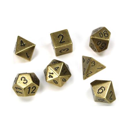 Metal Old Brass 7 Die Polyhedral Set