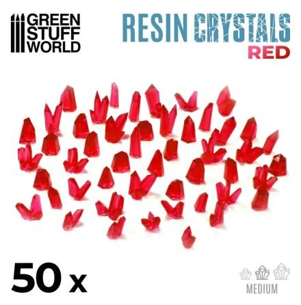 RED Resin Crystals - Medium
