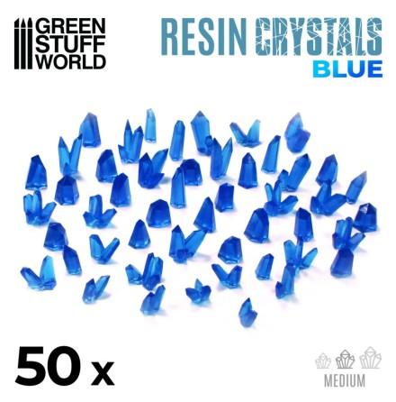 BLUE Resin Crystals - Medium