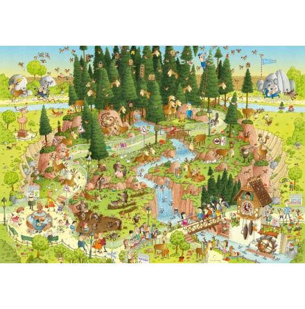 Degano Zoo, Black Forest Habitat 1000 pieces 48x68 cm