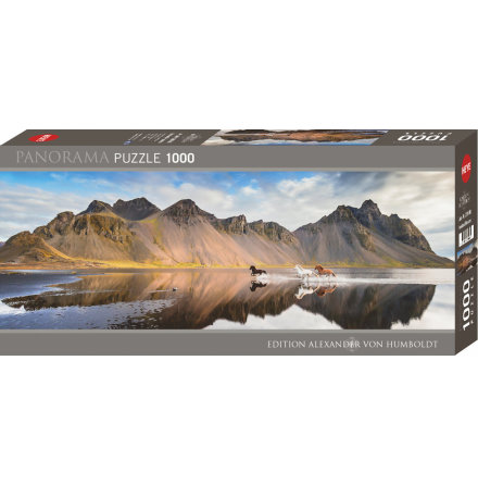 AvH: Iceland Horses (1000 pieces panorama)