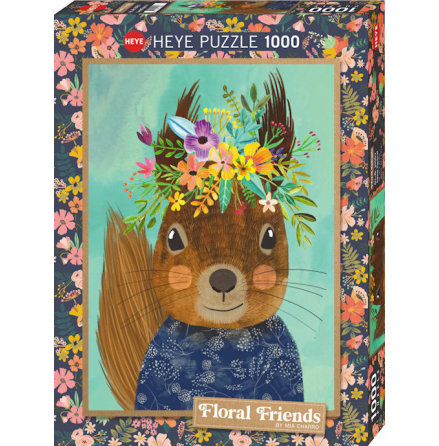 Floral Friends: Sweet Squirrel (1000 pieces)
