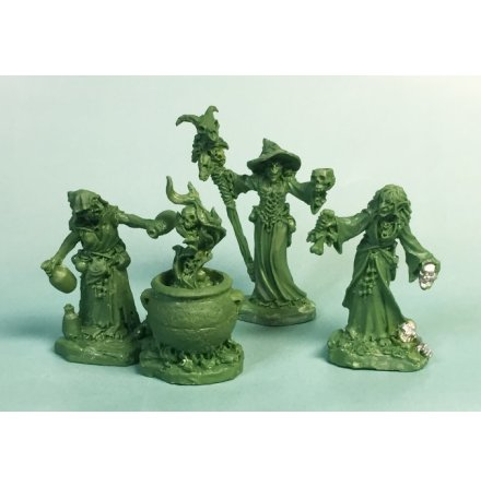 WITCH COVEN (3)AND CAULDRON