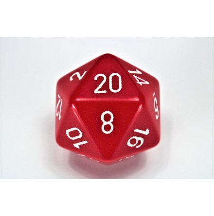 Opaque 34mm d20 Red/White