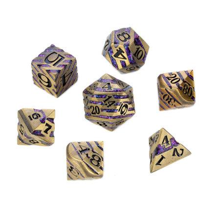 Chevron Series - Gold w. Purple Glitter