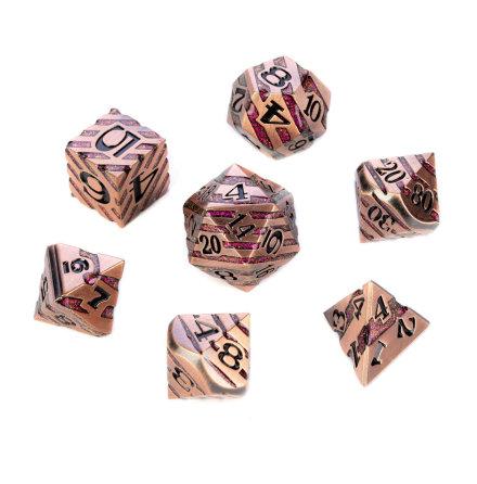Chevron Series - Copper w. Red Glitter