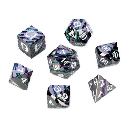 Chevron Series - Black w. Purple & Green Glitter