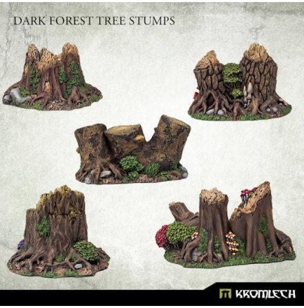 Dark Forest Tree Stumps