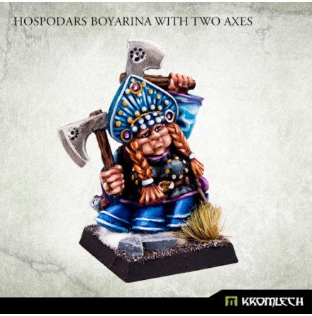 Hospodars Boyarina with two axes
