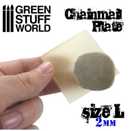 Texture Plate - ChainMail - Size L (2mm)